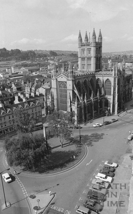 View of Bath Abbey and Orange Grove from the Empire Hotel 1974