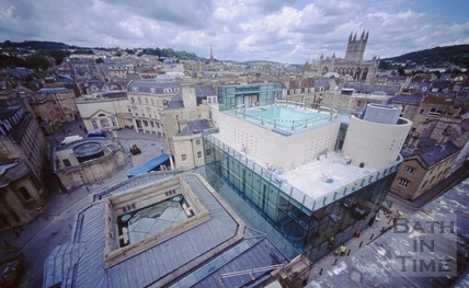 View of the Hot Bath, Cross Bath and Thermae Bath Spa, 5 June 2003
