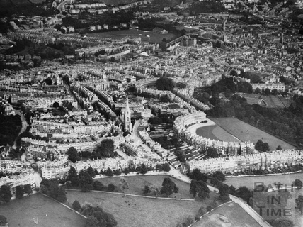 c.1930 Aerial view of Bath from the north west