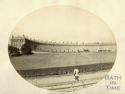 An early view of the Royal Crescent c.1890