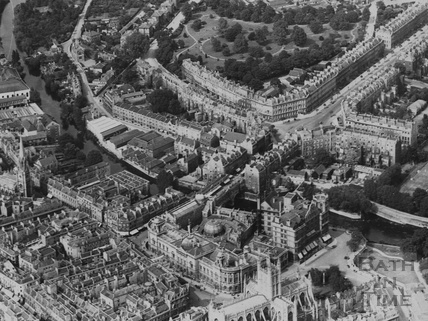 c.1930 Aerial view of Bath showing the Guildhall and Pulteney Bridge
