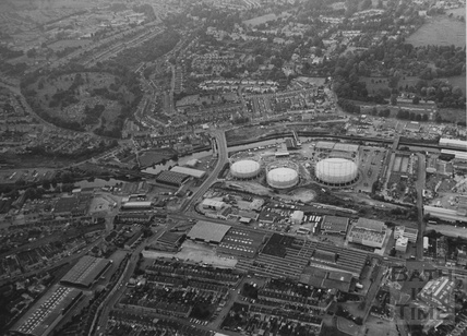 1985 Aerial View of the Western Riverside site and Oldfield Park July