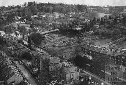 1971 Prior Park Road aerial view, 12 May