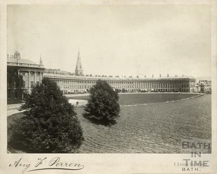 View of the Royal Crescent from Marlborough Buildings c.1900