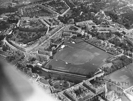 1954 Aerial view of the Recreation Ground and Bathwick
