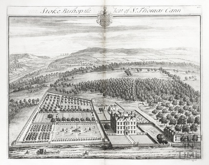 Stoke Bishop, the Seat of Sr Thomas Cann by Johannes Kip 1712