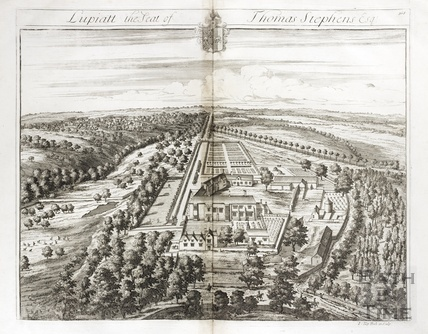 Lupiatt, the Seat of Thomas Stephens Esq. by Johannes Kip 1712