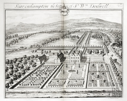 Seavenhampton, the Seat of Sr Wm Dodwell by Johannes Kip 1712