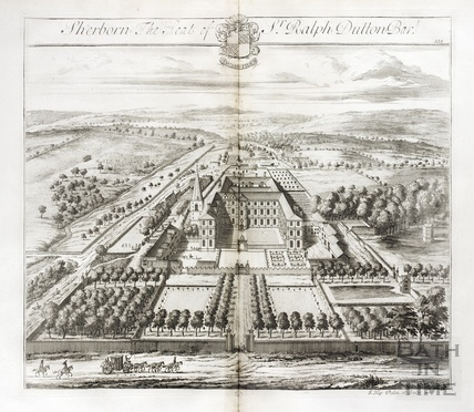 Sherborn, the Seat of Sr Ralph Dutton Bart. by Johannes Kip 1712