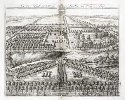 Cleve Hill, the Seat of William Player Esq. by Johannes Kip 1712