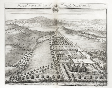 Sneed Park, the Seat of Joseph Jackson Esq. by Johannes Kip 1712