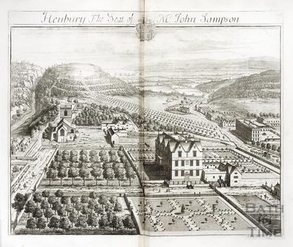 Henbury, the Seat of Mr John Sampson by Johannes Kip 1712