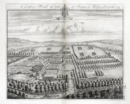 Clower Wall, the Seat of Francis Wyndham Esq. by Johannes Kip 1712