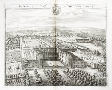 Syston, the Seat of Samu Trotman Esq. by Johannes Kip 1712