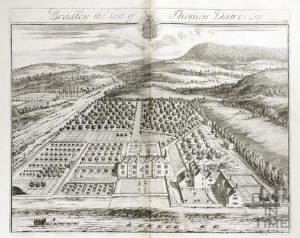 Bradley, the Seat of Thomas Dawes Esq. by Johannes Kip 1712