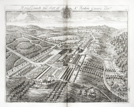Rendcomb, the Seat of Sr John Guise Bart. by Johannes Kip 1712