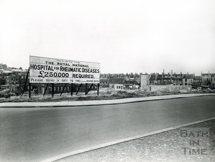Proposed site for the new Hospital off James Street West and Avon Street c.1938