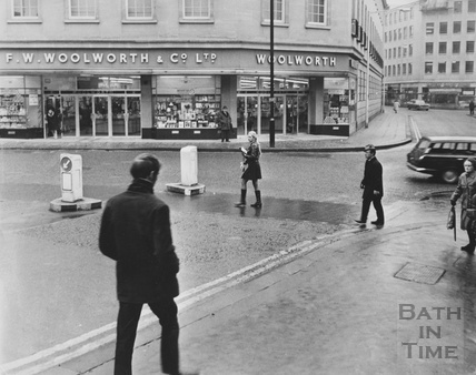 F.W. Woolworth, on the corner of Stall Street and Southgate Street c.1965