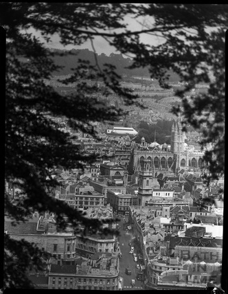 View of Southgate from Beechen Cliff 1955