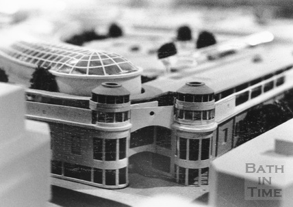 Detail from the architect's model for the proposed Prudential development of Southgate Shopping Centre, November 1988