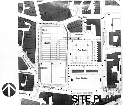Site Plan of the new Southgate Centre c.1971