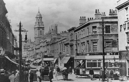 The corner of Dorchester Street and Southgate Street, c.1910