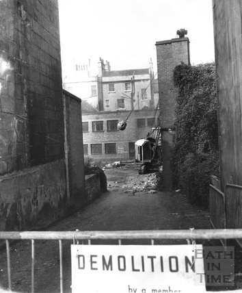 The wrecking ball in action demolishing the old Southgate 27 Sept 1971