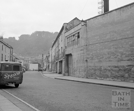 Newark Street looking south from Philip Street, c. January 1969