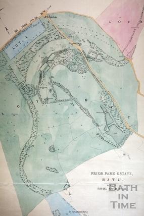 Prior Park Estate Plan 1856 - detail