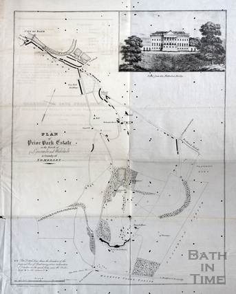 Plan of Prior Park Estate in the Parish of Lyncombe and Widcombe in the County of Somerset 1825