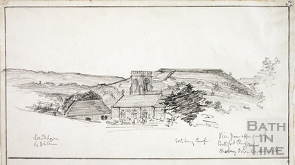 View from the upper part of Bathford church June 29th 1872