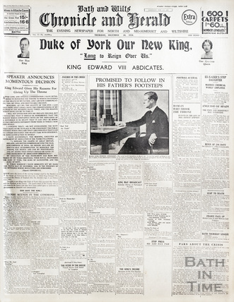 The abdication of Edward VIII 8th December 1936