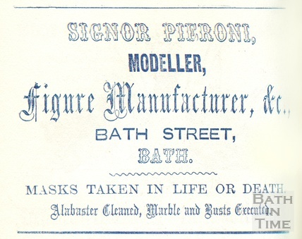 Trade advertisement for Signor Pieroni, Figure Manufacturer, Modeller and Moulder 1860