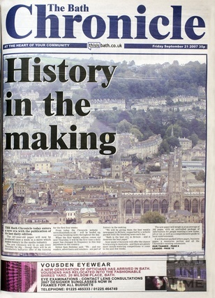 The final daily edition of the Bath Chronicle September 21st 2007