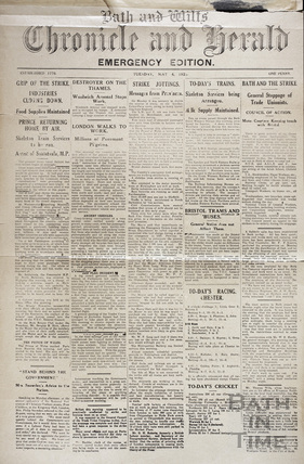 Emergency Edition. The General Strike May 4 1926