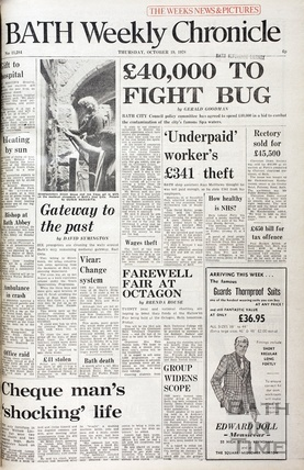 Killer Bug in the spa waters October 19th 1978