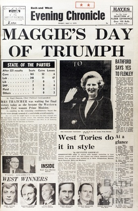 Margaret Thatcher comes to power 4th May 1979