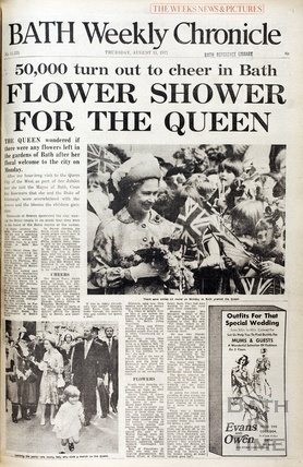 Queen Elizabeth visits Bath in Jubilee year August 11 1977