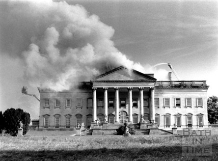 Prior Park on fire, June 1991