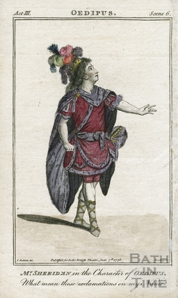 Mr Sheridan in the Character of Oedipus 1776