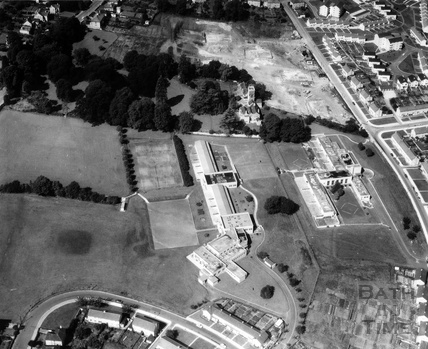 1965 Aerial view of Moorlands Junior and Infants Schools