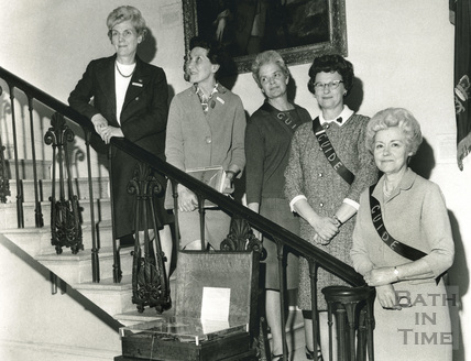 Museum Guides at the American Museum in Britain, Claverton Manor c.1971