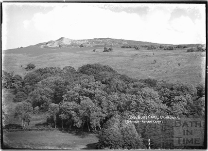 Dolbury Camp, cresting Lofty Hill above Churchill nr.Langford, Somerset June 1935