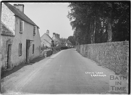 Stock Lane, Langford c. 1935