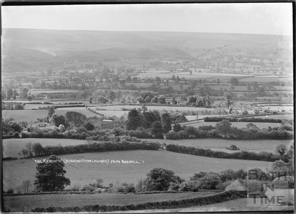 View of the Mendips (Burrington Combe) from Redhill No. 1 June 1935
