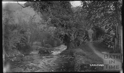 River scene, Langford, Somerset c. March 1939