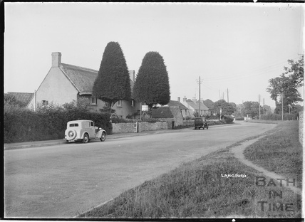 Village view of Langford, Somerset 9 March 1939