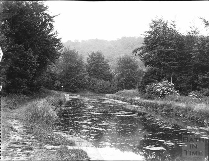 A view the Kennet and Avon Canal from Dundas Aqueduct at the bend towards Limpley Stoke c.1900
