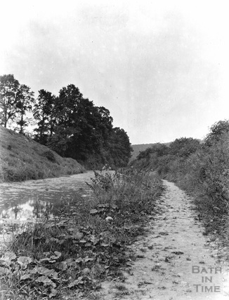 A view of either the Somersetshire Coal Canal probably near Midford c.1900