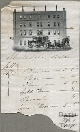 Bill from the White Lion Hotel 1833